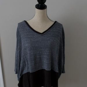 Free People Gray Oversize Top